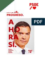 Ahora Progreso Programa PSOE 10-N