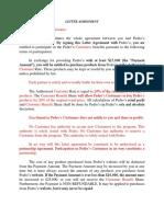 letter agreement revise