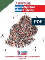 Alliance Nationale - Manifeste Électoral Complet