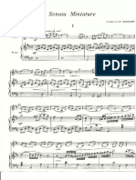 """Ch.Ruegger """"Sonata Miniature"""" (clavier, violin)"""