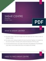 Shear Centre for Semi Circular Section