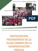 5) Propuesta de Participación Protagónica de La Clase Obrera en La Gestión.