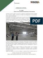 10-10-19 Sur de Sonora contará con más industria manufacturera