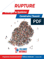 L'alliance Nationale dévoile son manifeste électorale