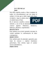 9. Métodos y Técnicas