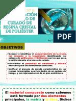 determinacion del tiempo de curado de la resina poliertes cristal