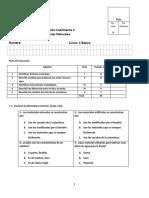 Evaluación C2 Ciencias 1ero Basico