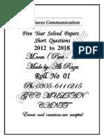 Business communication M.com part 1