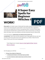 8 Super Easy Spells for Beginner Witches That Work!