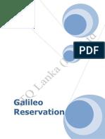 Galileo Reservation Manual