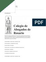 Colegio de abogados Rosario