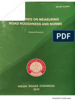 IRC-SP-16-2019 Guidelines on Measuring Road Roughness