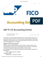 Important Sap Fi-co Accounting Entries