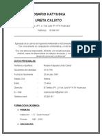 Ureta Calixto Rosario Cv