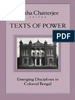 Chatterjee-Texts Of Power Emerging Disciplines in Colonial Bengal  1995.pdf