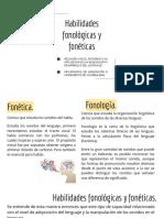 Habilidades Fonológicas y Fonéticas