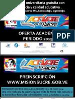 Oferta Académica Ms 2019-2