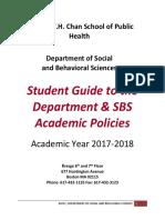SBS academic procedures