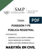 Posesion y Fe Publica Registral