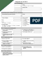 Questionnaire Diagnostic OSC