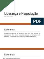 Liderança e Negociação, parte I