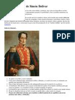 42 Pensamientos de Simón Bolívar