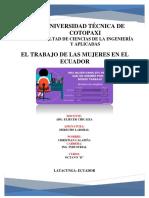 Trabajo de La Mujer en El Ecuador Final