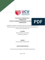 La Libertad de Expresión y Sus Límites de Ejercicio en Los Medios Digitales Para Los Alumnos de La Escuela de Ciencias de La Comunicación Turno Noche de La UCV Lima Norte, 2017