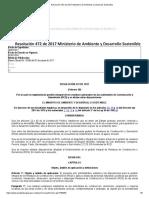 Resolución 472 de 2017 Ministerio de Ambiente y Desarrollo Sostenible