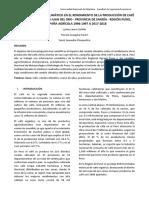 Impacto Del Cambio Climático en El Rendimiento de La Producción de Café en El Distrito de San Juan Del Oro1