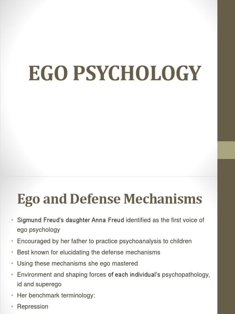 Ego Psychology Defence Mechanisms Id Free 30 Day Trial Scribd