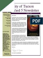City of Tucson Ward 5 Newsletter - October 2019