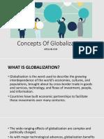 Concepts of Globalization SLIDES