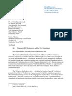 2019 ACLU Letter to Wimberley ISD School Board