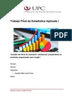 Trabajo Final de Estadística Aplicada UPC