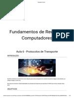 Fundamentos de Redes de Computadores - Aula 6 - Protocolos de Transporte