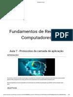 Fundamentos de Redes de Computadores - Aula 7 - Protocolos Da Camada de Aplicação