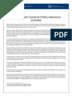 Decisiones de Política Monetaria al 30-10-19