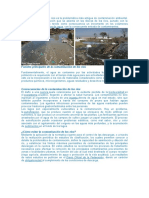 La Contaminación de Los Ríos Es La Problemática Más Antigua de Contaminación Ambiental