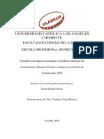 Estructura Del Informe de La Prueba Piloto - Tesis