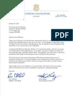 Letter to Michigan Gov. Gretchen Whitmer