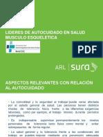 LIDERES DE AUTOCUIDADO EN SALUD MUSCULO - ESQUELETICA