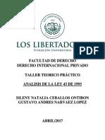 Analisis de La Ley 43 1993