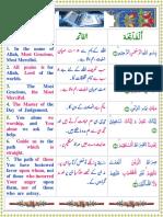 1.Al-Fatiha