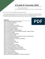 Constitución Del Estado de Venezuela (1830)