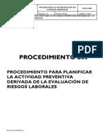 Proc s05. Planificar Actividad Preventiva Evaluacion Riesgos