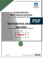 [Ok] Soal USBN Matematika Wajib (Paket 3) [Www.defantri.com]