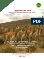 Informe Región Junín _ Convenio Para La Conservación y Manejo de La Vicuña 2018