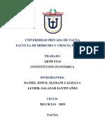 Artículo - Constitucion Economica [Seminario d. Constitucional)