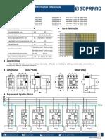 Ficha Técnica - Linha DRS - Interruptor Diferencial